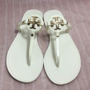 Tory Burch mini miller jelly sandals thong size 6